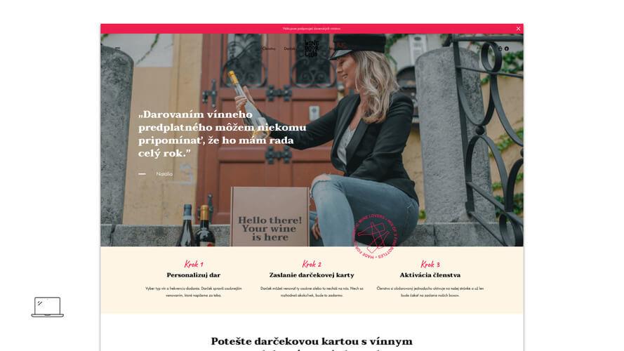 Wine Door Club projekt webdizajn